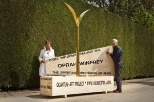 UNifying Field, Golden Plant, Seedling, Peace project, Quantum art, Artists Huub and Adelheid Kortekaas, Holland
