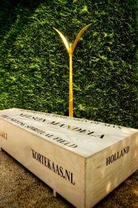 4e Gouden Plant, Mandela, kunstproject, Quantum Art project, The Unifying Field, Gouden Planten, Zaailing, Vredesproject, Kunstenaars Adelheid & Huub kortekaas, Winssen,