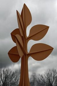 Artists Huub & Adelheid Kortekaas, art, bronze, corten steel, rvs, seedlings, plants, nature, unifying, Architecture, garden design, rose-patel