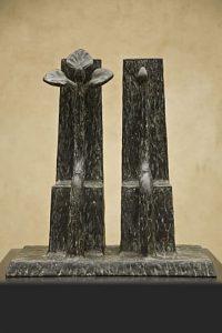 brons, Zetels, stoelen, Kunstenaars Adelheid & Huub kortekaas, Winssen, architectuur, quantum art, kunst, kunstwerk, planten, mensfiguren,